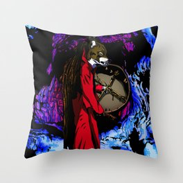 WOLF CAVE Throw Pillow