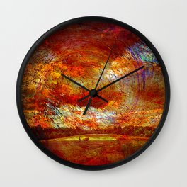 Work on the fields Abstract Wall Clock