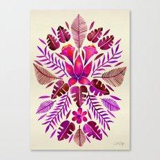 Tropical Symmetry – Magenta Canvas Print