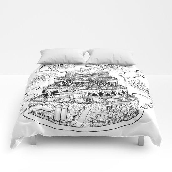 Country Wedding Cake Zentangle Style Comforters