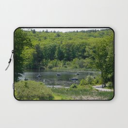 Boats on the Lake, Wellesley College Laptop Sleeve