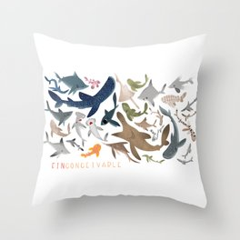 "FINconceivable Still ""Sharks"" Throw Pillow"