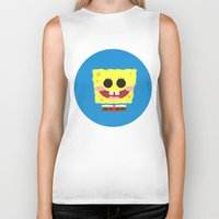 spongebob Biker Tanks featuring Spongebob Squarepants by Eyetoheart