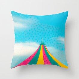 Summer Carnival Tent Throw Pillow