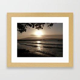 Ocean Sunset Tranquility Framed Art Print