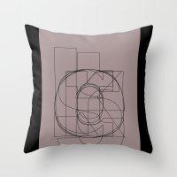 danny haas Throw Pillows featuring Die Neue Haas Grotesk (D) by Bouké