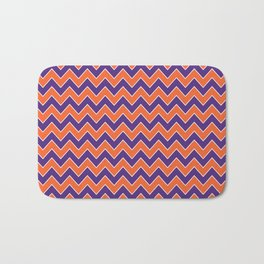 Orange and purple clemson chevron stripes university college alumni football fan gifts Bath Mat