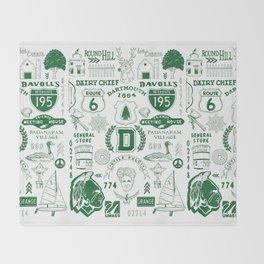 Dartmouth Massachusetts Print Throw Blanket