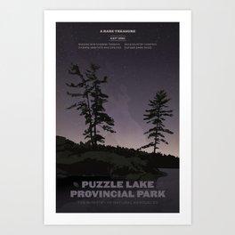 Puzzle Lake Provincial Park Art Print