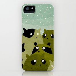 a beaver, a squirrel and a no particular rodent iPhone Case