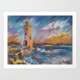 Lighthouse Beach Art Prints   Society6