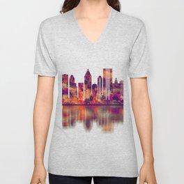 Houston Texas Skyline Unisex V-Neck
