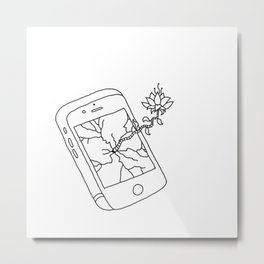Phone Metal Print