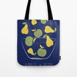 Apples and Peers blue Tote Bag