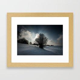 Snowy Hillside Framed Art Print