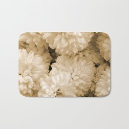 Monochrome Abstract Mums Bath Mat