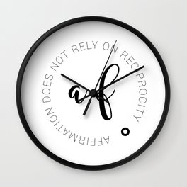 Affirmation is not selfish Wall Clock