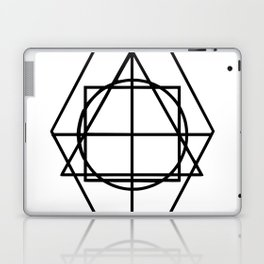 Black lines minimalism Laptop & iPad Skin