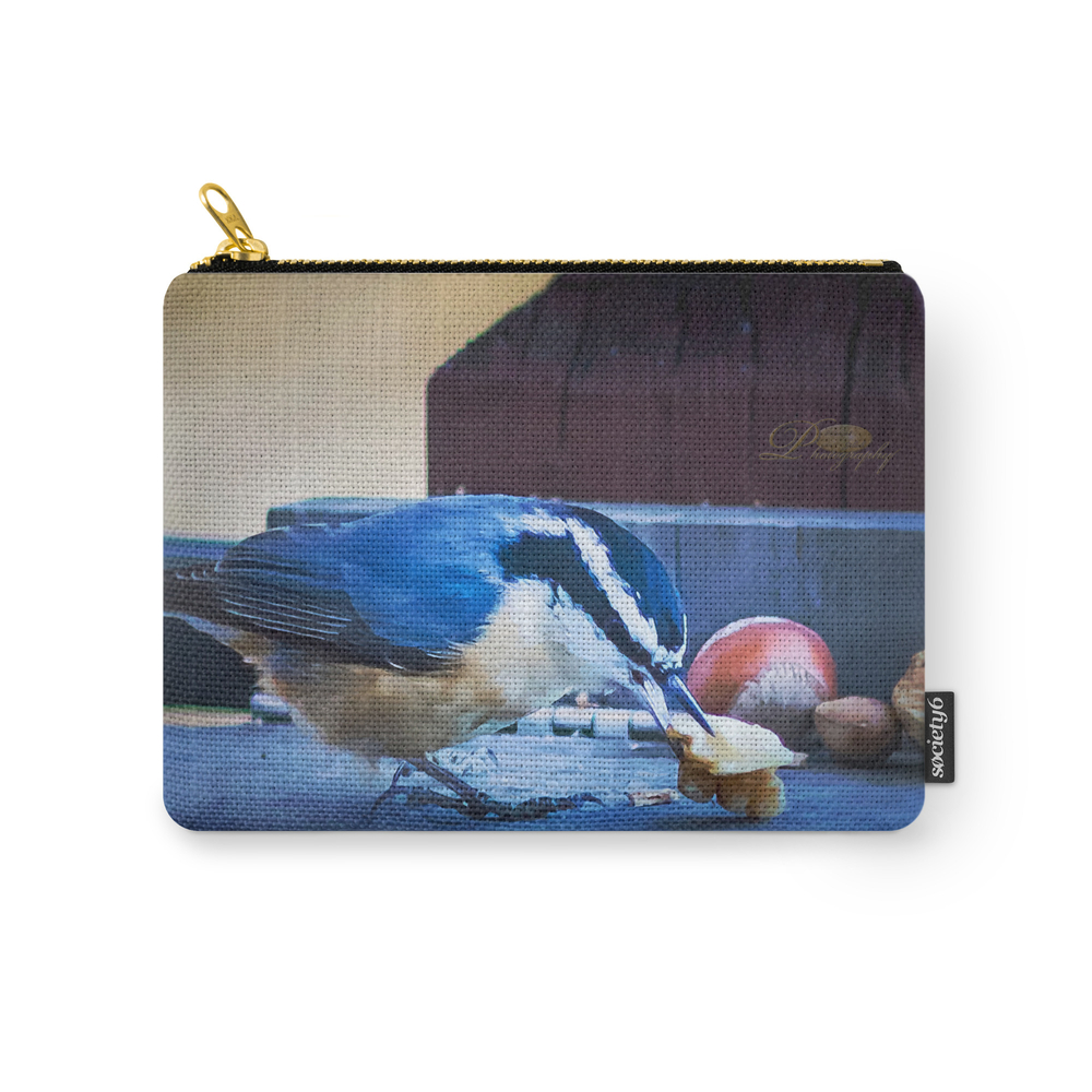 Red Breasted Nuthatch Carry-All Pouch by michael_johnk_photography (CAP8299273) photo