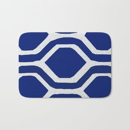 Blue and White and Bold Bath Mat