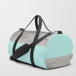 Bright Mint on Concrete #1 #decor #art #society6 Duffle Bag