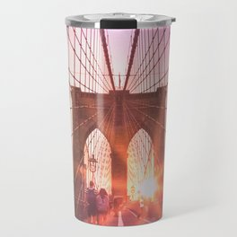 NYC Brooklyn Bridge Travel Mug