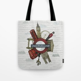 Around London digital illustration Tote Bag