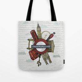 Around London digital illustration Tote Bag