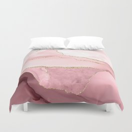 Blush Marble Art Landscape Duvet Cover