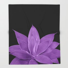 Purple Agave #1 #tropical #decor #art #society6 Throw Blanket