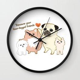 Treasure your four-legged friends Wall Clock