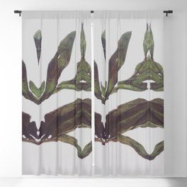 Olive Wings Blackout Curtain