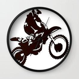 Motor X Silhouette Wall Clock