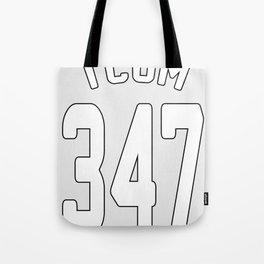 TCOM 347 AREA CODE JERSEY Tote Bag