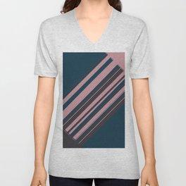 Rose stripes Unisex V-Neck