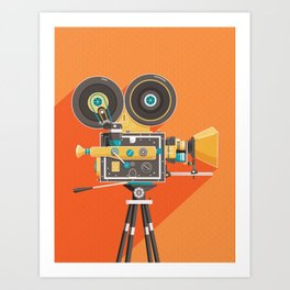 Cine: Orange Art Print