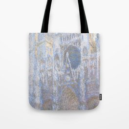The Portal of Rouen Cathedral in Morning Light (1894) by Claude Monet Tote Bag
