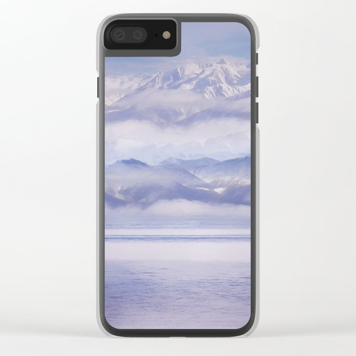 winter landscape Clear iPhone Case