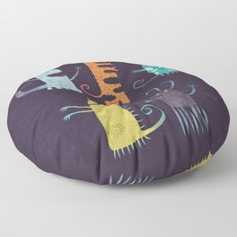 Secretly Vegetarian Monsters Floor Pillow