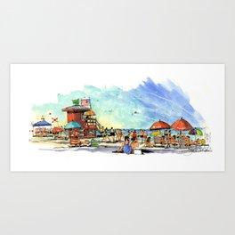 Siesta Key Beach Art Print