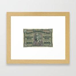 Vintage German East Africa Currency Framed Art Print