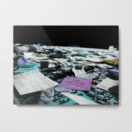 Post-It Wall Metal Print