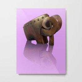 Armed Mammoth Metal Print