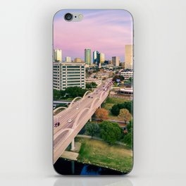 Fort Worth at Dusk iPhone Skin