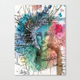 Floral Lady Canvas Print