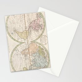 Vintage Map of The World (1798) Stationery Cards
