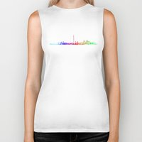 toronto Biker Tanks featuring Toronto Rainbow by The Learning Curve Photography