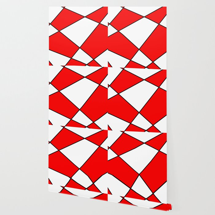 Geometric abstract - Red, black and white. Wallpaper by ...