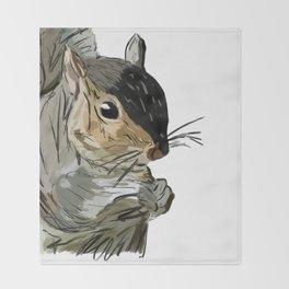 Squirrel 1 Throw Blanket