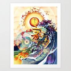 Japan Earthquake 11-03-2011 Art Print